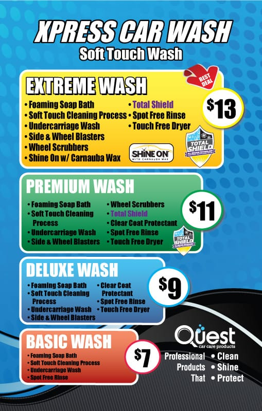 Menu Signs Archives Quest Car Care Products